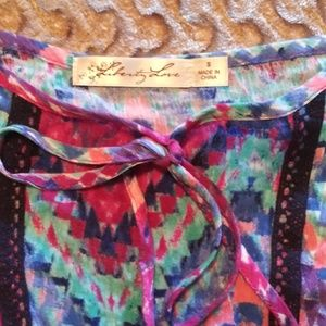 Liberty Love Tops - Off the shoulders colorful top